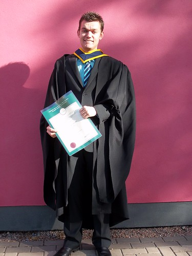 Me in my graduation robes