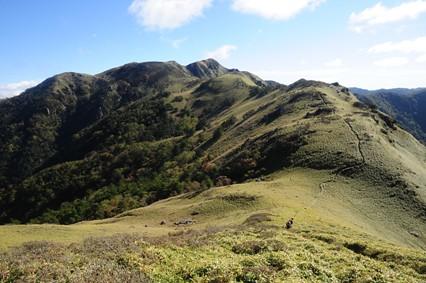 大タオ付近から三嶺