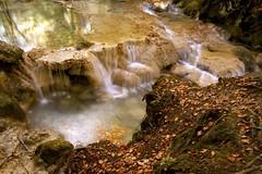 Urederra IV (veronicadelbarriosanchez30) Tags: hojas agua cataratas otoo frio ramas baquedano eos50d pateada