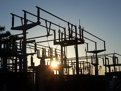power (trepelu) Tags: sunset station solar power electricity backlit pylons insulators chincoteagueva