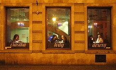 Windows of an exhibition (Toni Pamuk) Tags: street windows ladies girls woman detail window coffee caf girl lady bar composition relax ventana calle mujer women jung chica centre femme details kaffee poland polska center exhibition paseo exposition promenade polen chicas shopwindow strase frau rue citycenter zentrum viejo mujeres fille fentre top20windows antiguo polonia centreville wroclaw filles femmes vieux ausstellung vitrine frauen spaziergang pologne jeune exposicin breslau kaffeehaus ecaparate jven centrociudad tonipamuk challengeyouwinner bonzag bestofr superlativas ehibicin
