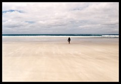 lost on the beach (janchan) Tags: ocean newzealand white beach lost sand alone wind anawesomeshot sfidephotoamatoriwinner