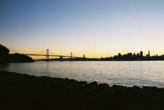 SF & Bay Bridge (Jasson Steffan) Tags: bridge sunset skyline oakland dusk thecity baybridge bayarea sanfransisco oaklandbaybridge sanfransiscoskyline sanfransiscobayarea