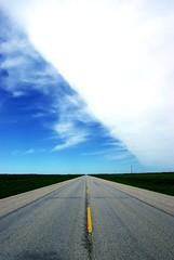 Angles (n0wak) Tags: road sky vanishingpoint highway roadtrip manitoba
