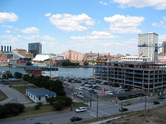 Northeast view of the Inner Harbor from Federal Hill