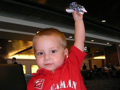 Nathan in the Vegas airport