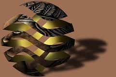 RindExperiment2 (PhotoMasterGreg) Tags: rind coin greg gimp surreal manipulation penny peel escher droste photomaster
