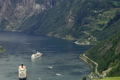 Cruise ships in geiranger fjord (Reinhard.Pantke) Tags: travel norway norge reisen north norden skandinavien norwegen unterwegs reise