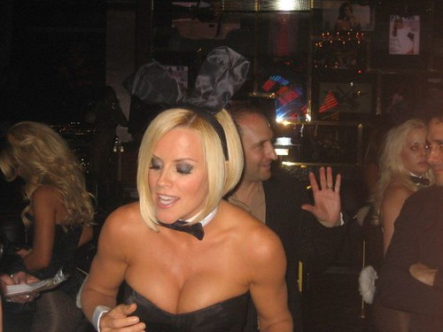 Jenny McCarthy dealing at the Playboy Club at Palms by dissonance