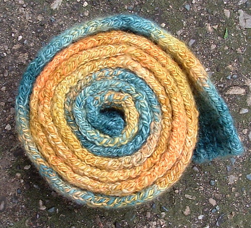rolled handspun scarf