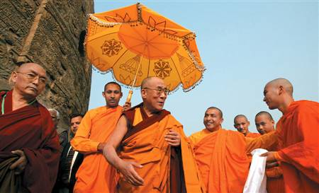 Dalai Lama with Monks