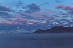 Foggy evening in Fskrsfjrur (*Jonina*) Tags: sea mountains fog clouds evening iceland sland sk hafi kvld fjll oka fskrsfjrur abigfave faskrudsfjordur