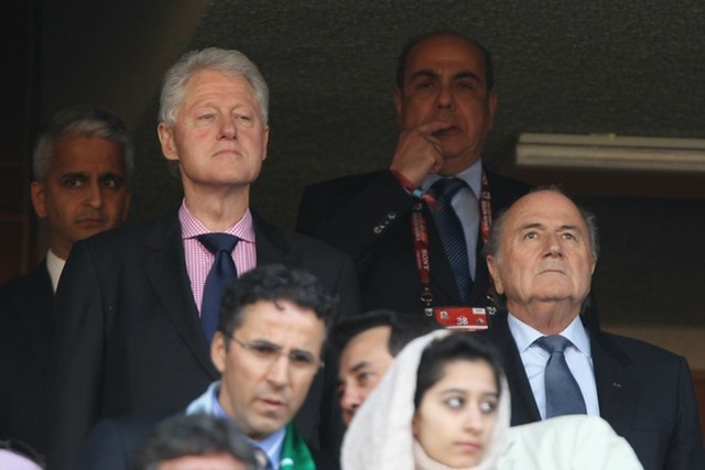 Thumb Bill Clinton in World Cup South Africa
