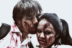 sunday bloody sunday (quino para los amigos) Tags: blood buenosaires couple pareja zombie muerte sangre injured herido zombiewalk