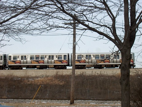 Eastbound CTA Orange line train. Chicago Illinois. January 2007. by Eddie from Chicago