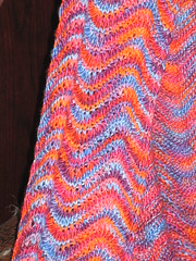 Close-up of Chevron Stitch Scarf