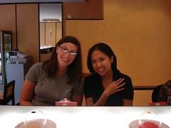 Me & Val at Sushi