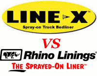 Spray in Review and comparison of Line-x Bed Liner vs. Rhino Bed Liner