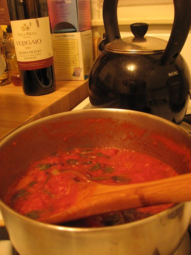 Salad + Tomato Sauce = Fancy Pasta Night in Ten Minutes
