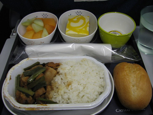 cathay pacific's lunch fare