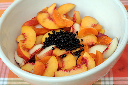 Peaches, Elderberries, and Nectarines