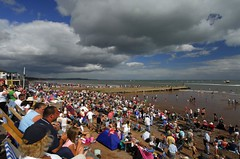 Expectant crowds at Dawlish Festival