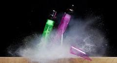 Double Gas lighter (Mark Watson (kalimistuk)) Tags: make lumix frozen still shoot shot fast gas panasonic freeze lighters smashed quick explode highspeed strobe exploded fz50 froze pellet 22cal