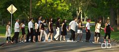 Boyer Avenue (Daniel Bachhuber) Tags: road walking evening spring outdoor posed sunny abbeyroad crosswalk schwa whitmancollege diffusedlight willcanine leemills abbychapin boyeravenue