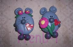 Ratoncitos Amorosos (PrenD-T) Tags: handmade ratones imanes hechoamano pastafrancesa pastaflexible prendt