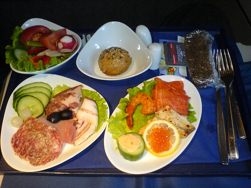 Еда в бизнес-классе S7