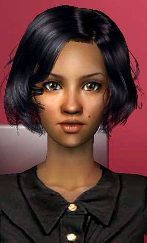 Sims2 girl Enayla skin by zerooneonly.