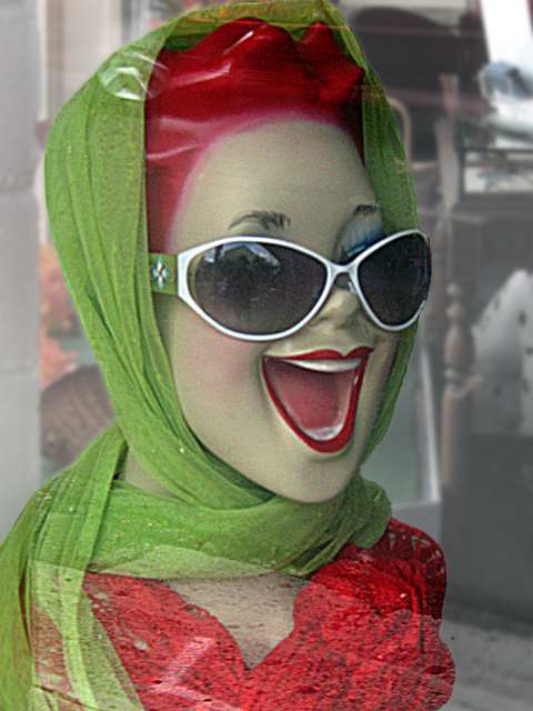 The red-headed mannequin - near Waikiki beach (c) David Ocker