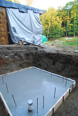 root cellar slab poured