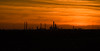 Oil refinery silhouette (John Dallimore) Tags: sunset silhouette clouds oil refinery coryton