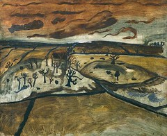 Nicholson, Ben (1894-1982) - 1928 Foothills, Cumberland (Tate Gallery, London) (RasMarley) Tags: 1920s english landscape tate painter expressionism nicholson naive 20thcentury 1928 primitive bennicholson foothillscumberland