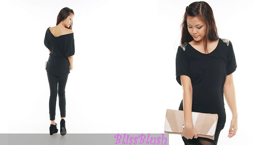 Studded Two Way Top