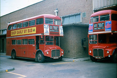 Routemasters at AW (John A King) Tags: bus 1969 garage routemaster aw routemasters abbeywood route177 rm1609 rm731