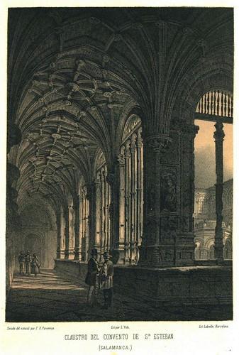 032-Claustro del Convento de Sn. Esteban (Salamanca) (1865) - Parcerisa, F. J-Biblioteca digital de Castilla y León  .