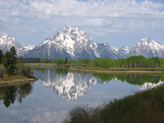 Oxbow Bend Reflections (avsfan1321) Tags: usa mountains reflection nature river unitedstates unitedstatesofamerica snakeriver wyoming tetons grandtetonnationalpark oxbowbend