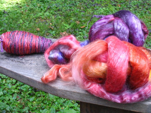 Merino tencel roving and spinning