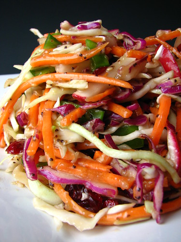 Coleslaw with Gingered 3-Seed Dressing