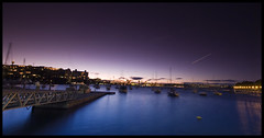 A Cool Sydney Night (say.fromage) Tags: rushcutters rushcutter rushcuttersbay bay harbour water boats yachts night ships bridge harbourbridge city cityscape buildings houses wharf jetty marina gate fence foreshore tobacco filter cokin canon 30d 1022mm 100sec longexposure sydney nsw australia rose double edgecliff darling point park evening dark