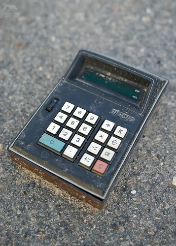 see Vintage Calculator (In Parking Lot) larger on Flickr