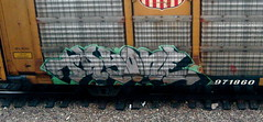 Tayone (liquidnight) Tags: seattle streetart train graffiti traincar freighttrain freights tayone benching ephemeralart