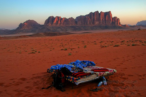 Spending the Night, Wadi Rum - Jordan