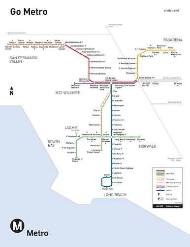 LA Rail Map