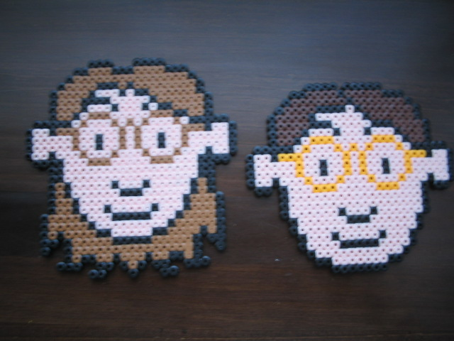 Perler Dave and Raina
