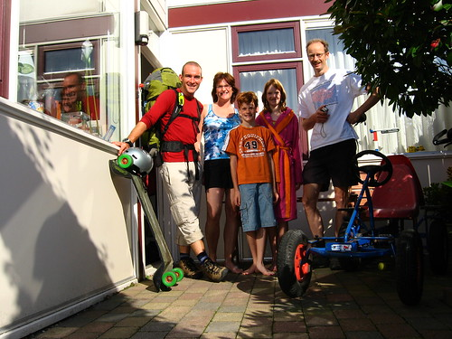 With Bram and his family in Bergschenhoek, The Netherlands
