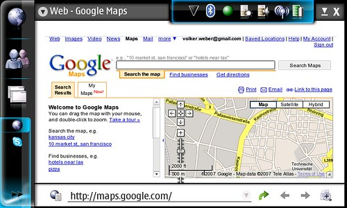 Google Maps on N800