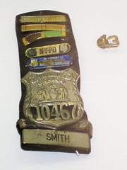 NYPD PO Moira Smiths Shield and Collar Brass (buff_wannabe) Tags: nyc memorial cops 911 police nypd smith policewoman shield unusual moira incident lodd